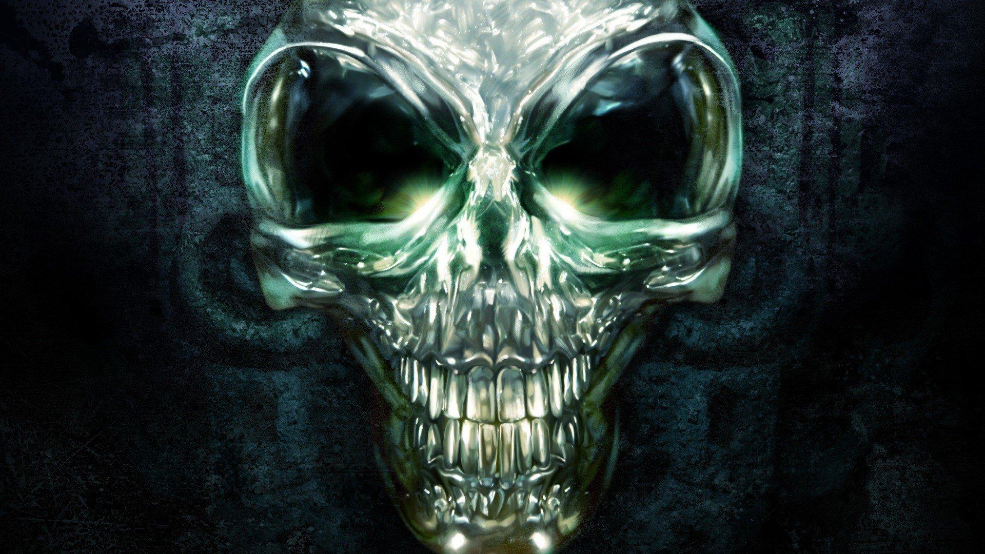 Обои скелет, чужой, удивляется, череп, живописи, земной. Фантастика foto 19